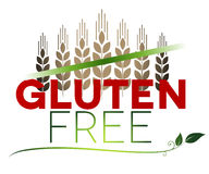 Gluten free message and wheat at the top Stock Images