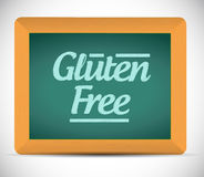 Gluten free message written on a blackboard. Royalty Free Stock Photography