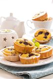 Gluten free muffins with grapes Stock Photos