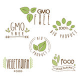 Gluten Free, Natural Product Label Stock Photography