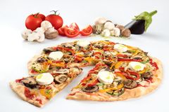 Gluten free pizza with mushrooms Royalty Free Stock Image