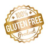 Gluten FREE Product rubber stamp gold on a white background. Gluten FREE Product rubber stamp gold on white background vector illustration