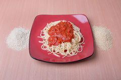 Gluten-Free Quinoa Spaghetti Stock Photography