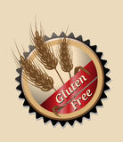 Gluten Free, round emblem or icon Royalty Free Stock Image