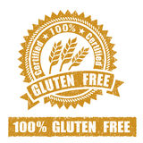 Gluten Free Rubber Stamp. On white background Royalty Free Stock Photo