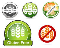 Gluten Free Seals For Celiac Sprue Treatment Royalty Free Stock Images