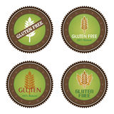 Gluten free. Set of gluten free labels with text. Vector illustration Royalty Free Stock Photos