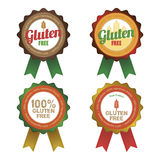 Gluten free. Set of gluten free labels with text. Vector illustration Stock Images