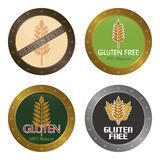 Gluten free. Set of gluten free labels with text. Vector illustration Stock Photo
