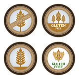 Gluten free. Set of gluten free labels with text. Vector illustration Royalty Free Stock Images