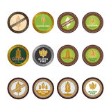 Gluten free. Set of gluten free labels on a white background. Vector illustration Royalty Free Stock Images