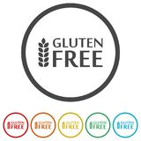 Gluten Free Sign Icon, 6 Colors Included. Simple vector icons set Royalty Free Stock Photography