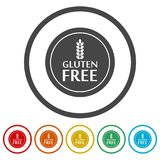 Gluten Free Sign Icon, 6 Colors Included. Simple vector icons set Royalty Free Stock Photo