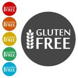 Gluten Free Sign Icon. Simple  icons Royalty Free Stock Images
