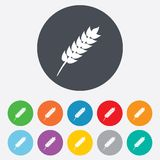 Gluten free sign icon. No gluten symbol. Stock Image