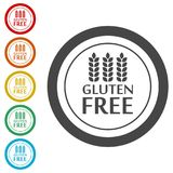 Gluten Free Sign Icon. Simple  icons set Stock Image