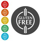 Gluten Free Sign Icon. Simple vector icons Royalty Free Stock Photography