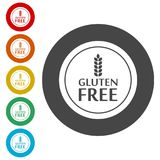 Gluten Free Sign Icon. Simple vector icons Royalty Free Stock Photos