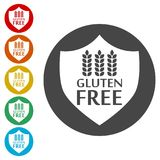 Gluten Free Sign Icon. Simple vector icons Royalty Free Stock Images