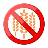 Gluten free Sign icon Royalty Free Stock Photography