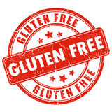 Gluten free stamp Royalty Free Stock Photo