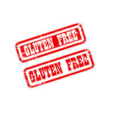 GLUTEN FREE stamp sign text red. Royalty Free Stock Image