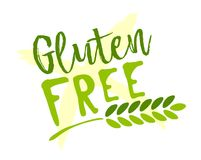 Gluten free sticker. Vector illustration for graphic and web design stock illustration