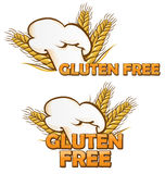 Gluten free symbol set Stock Photo