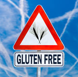 Gluten Free traffic sign Stock Image