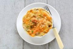Gluten free tuna penne casserole Stock Photography