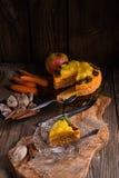 Gluten-free vegan carrot cake Stock Photos