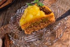 Gluten-free vegan carrot cake Stock Image
