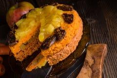 Gluten-free vegan carrot cake Royalty Free Stock Photo
