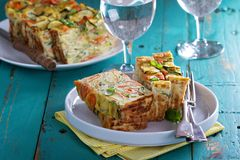 Gluten free vegetable loaf with zucchini Stock Image