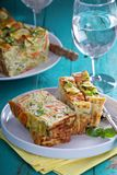 Gluten free vegetable loaf with zucchini Royalty Free Stock Photos