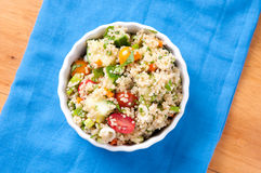 Gluten free vegetarian salad with quinoa  and fresh heirloo Royalty Free Stock Photography