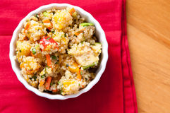 Gluten free vegetarian salad with quinoa  and fresh heirloo Royalty Free Stock Images