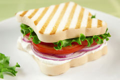Gluten free vegetarian sandwich Royalty Free Stock Images