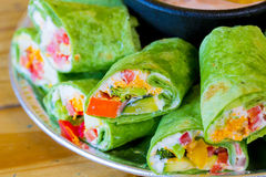 Gluten-Free Vegetarian Veggie Wraps Stock Images