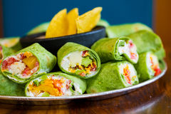 Gluten-Free Vegetarian Veggie Wraps Royalty Free Stock Photography