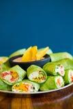 Gluten-Free Vegetarian Veggie Wraps Royalty Free Stock Photos