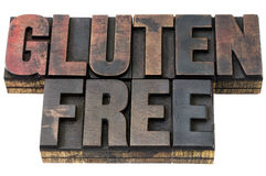 Gluten free in wood type Royalty Free Stock Images