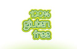 100% gluten free word text logo icon typography design Stock Images