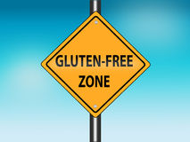 GLUTEN-FREE Zone Road sign Royalty Free Stock Photo