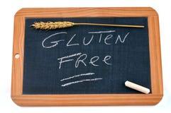 Gluten frei geschrieben auf einen Schulschiefer stockfotografie