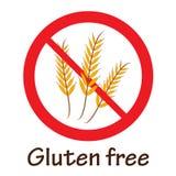 Gluten-freies Symbol Stockbild