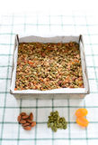 Gluten frigör granola Arkivfoto