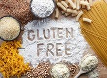Gluten frigör mat arkivfoto
