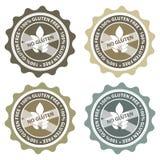 Gluten geben Kennsatz frei Lizenzfreie Stockfotografie