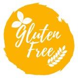 Gluten geben Kennsatz frei Gesund und biologisches Lebensmittel schriftkegel stock abbildung